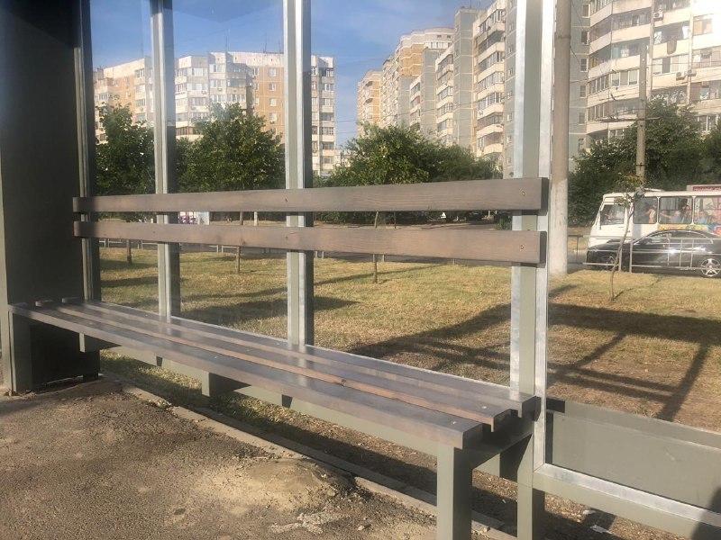 В Краснодаре поставили первую тестовую трамвайную остановку с новым дизайном 3